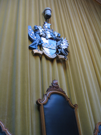 Wandsworth council chamber, Mayor's chair and crest
