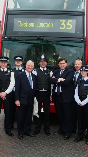 Wandsworth and Merton GLA member Dick Tracey and Deputy Mayor Kit Malthouse with members of the team