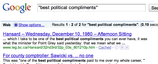Best political compliments