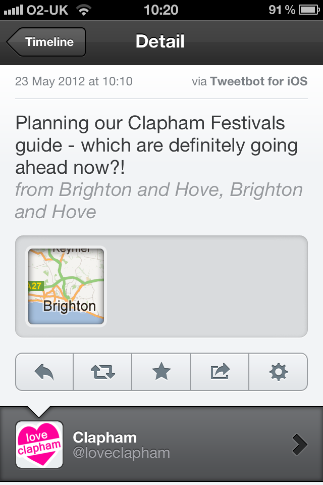 Brighton is Claphamising? Is nowhere...