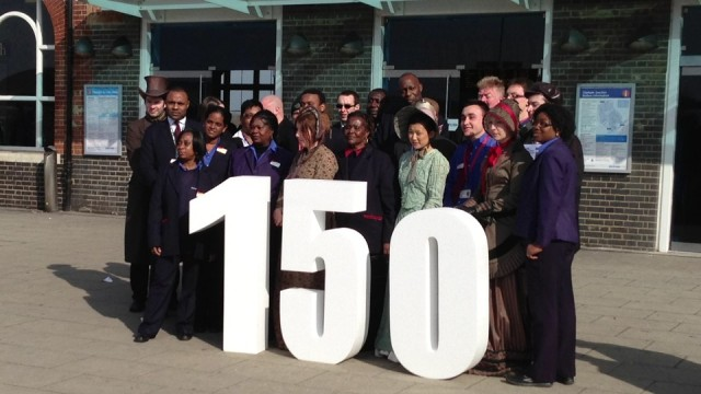 Staff and Victorians at Clapham Junction's 150th birthday