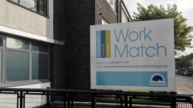 The Workmatch office sign