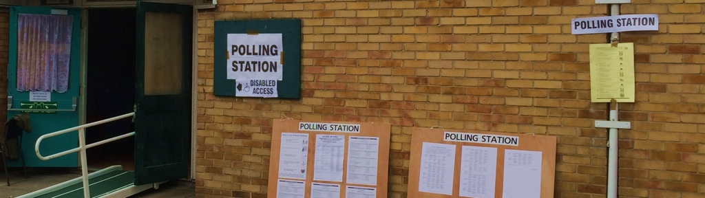Official notices around a polling station