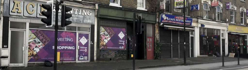Empty shops on Lavender Hill