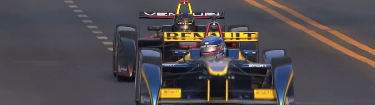 The finish of the Beijing Formula E race