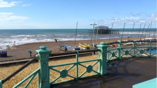 Brighton seafront. Breezy, but the...