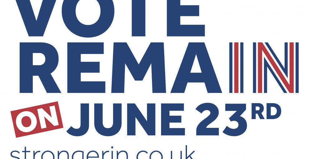 Why I'm voting remain tomorrow