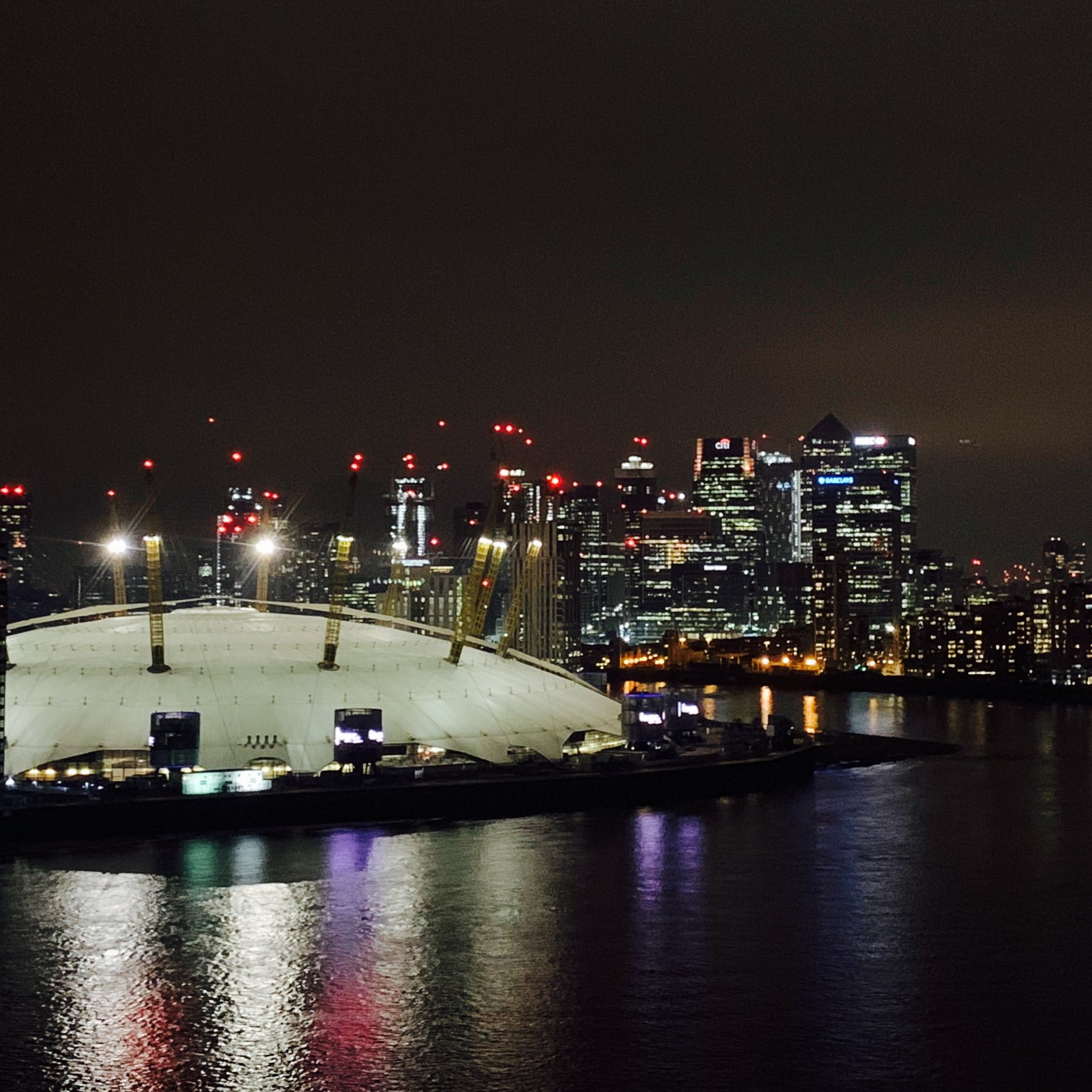 Docklands from the Emirates Airline.