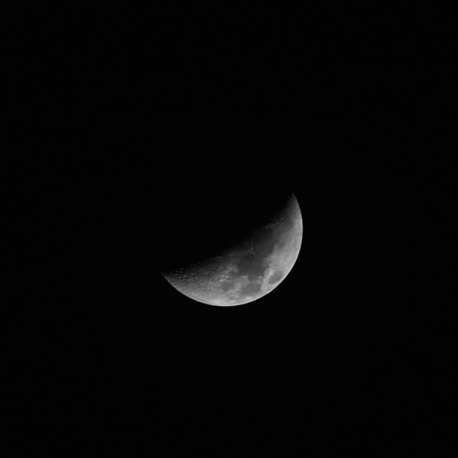 A waxing crescent mood.